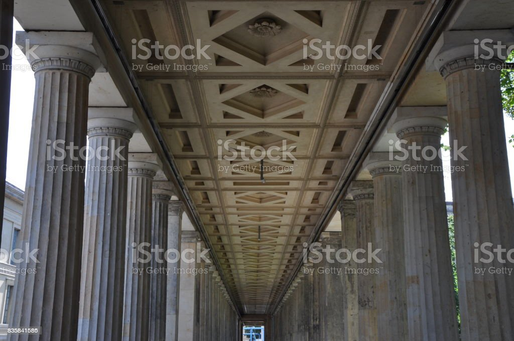 colonnade in Berlin, Germany stock photo