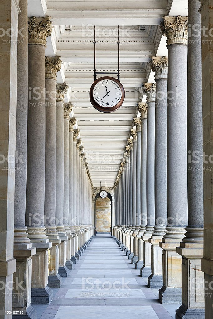Colonnade in Karlovy Vary stock photo