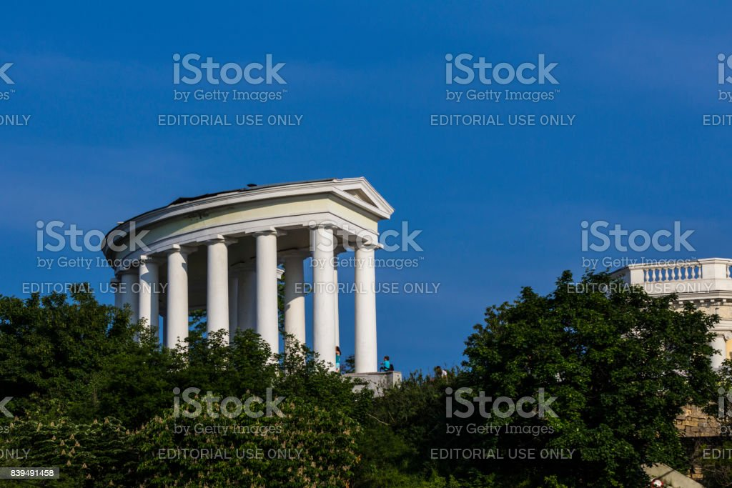 Colonnade in Odessa stock photo