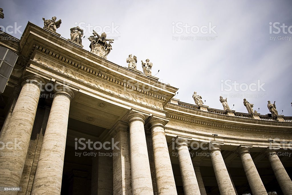 Colonnade in St Peter Square royalty-free stock photo