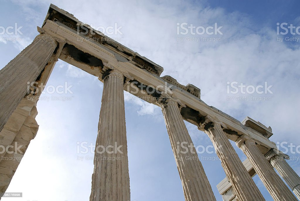 Colonnade long side from The Erechtheum, Acropolis, Athens royalty-free stock photo
