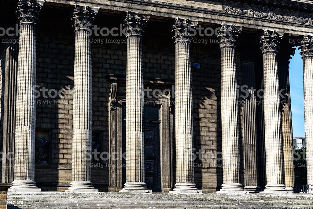 Colonnade of La Madeleine, Paris royalty-free stock photo