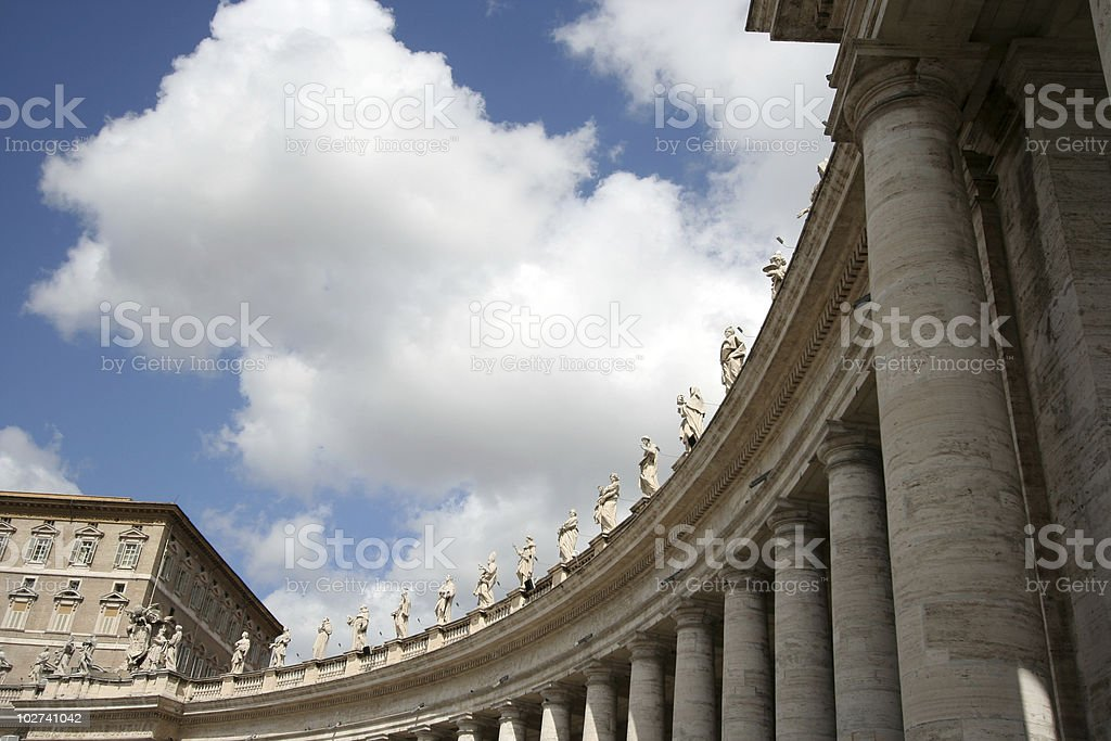 Colonnade of St. Peter's Basilica royalty-free stock photo