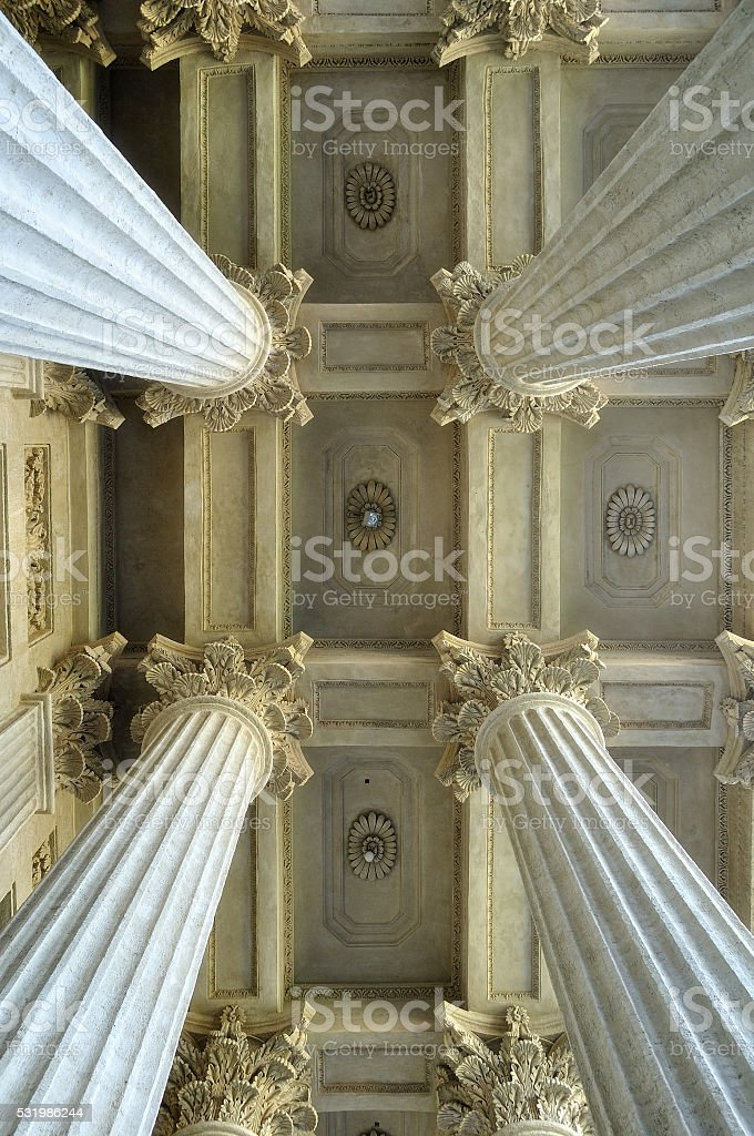 Colonnade of the Kazan Cathedral in Saint-Petersburg, Russia stock photo