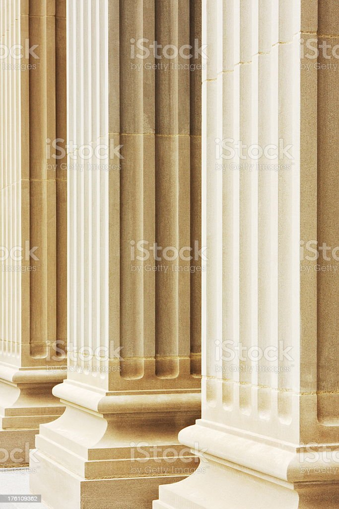 Colonnade Romanesque Column Fluted Doric royalty-free stock photo