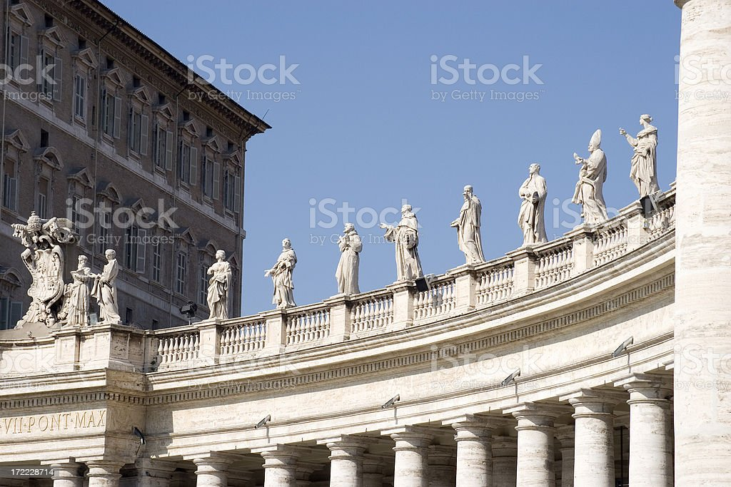 Colonnade, St Peter's Square, Vatican City royalty-free stock photo