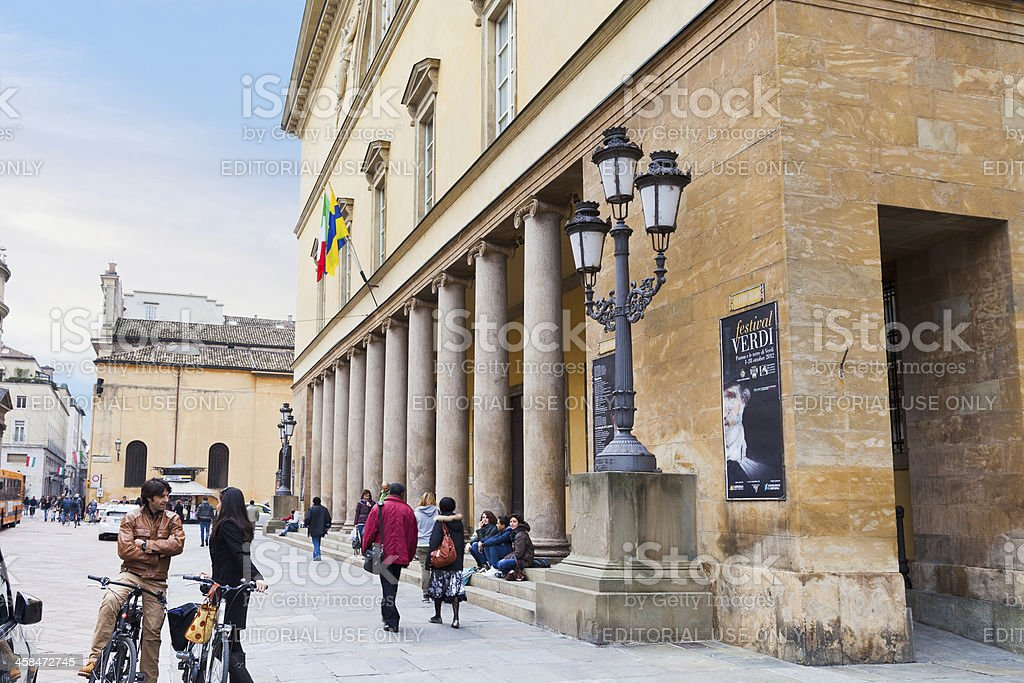 colonnade Teatro of Regio di Parma - opera house royalty-free stock photo