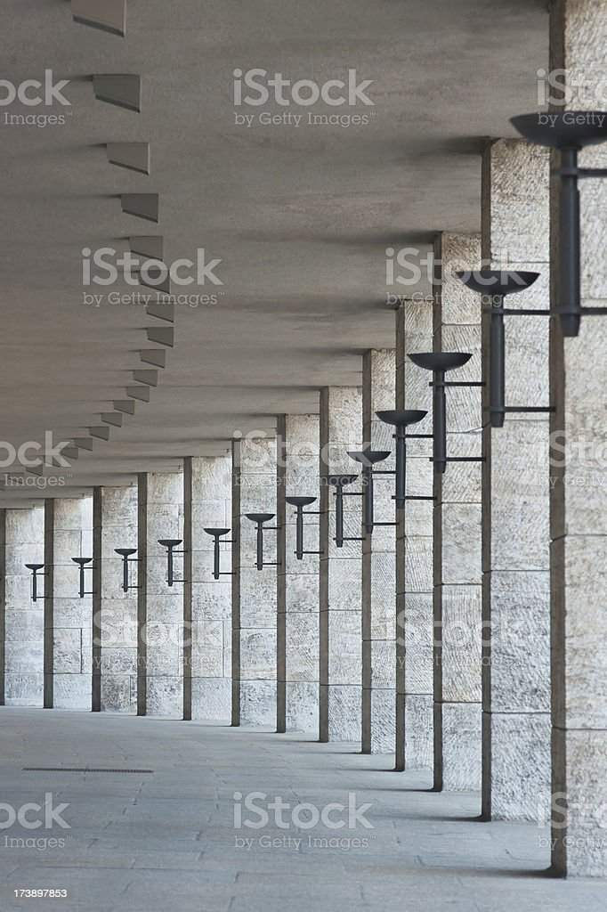 Colonnade with columns royalty-free stock photo