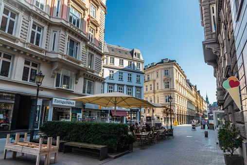Colonnaden, shopping street in Hamburg, Germany