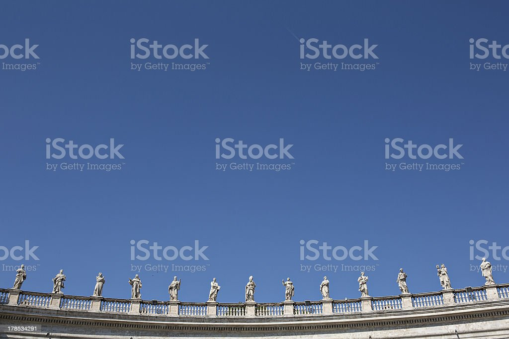 Colonnades in Vatican royalty-free stock photo