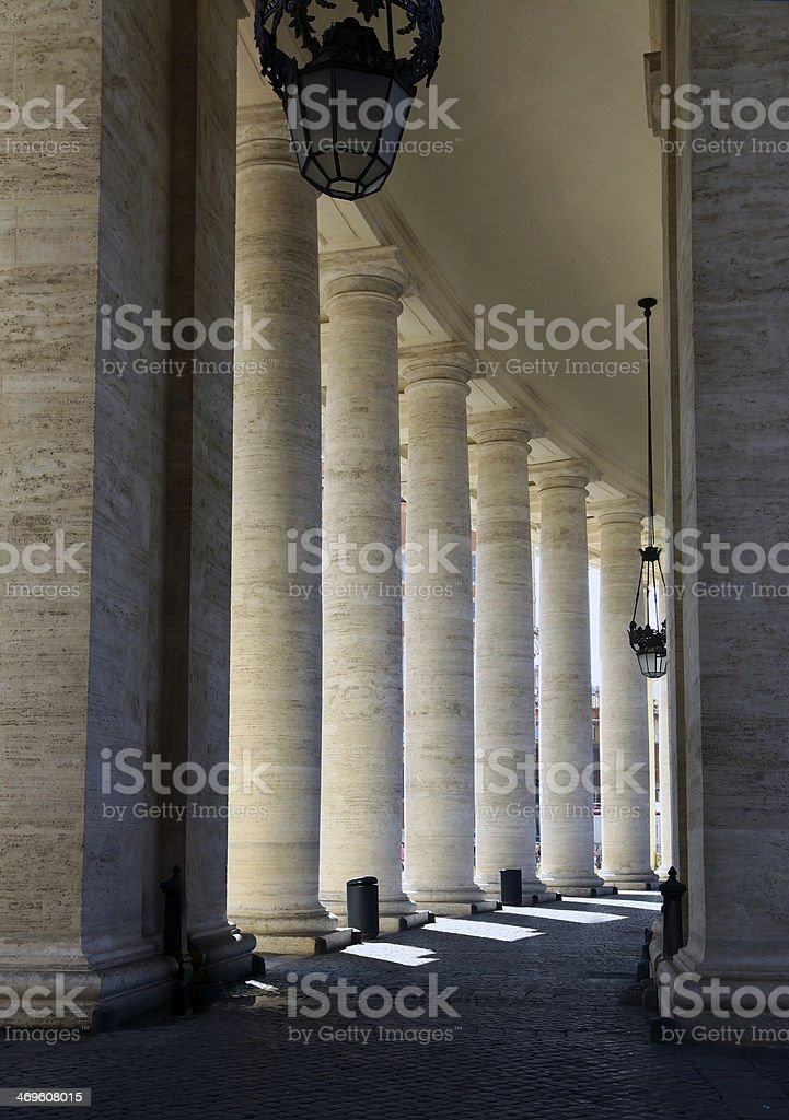 Colonnades of St Peter's Square, Rome stock photo