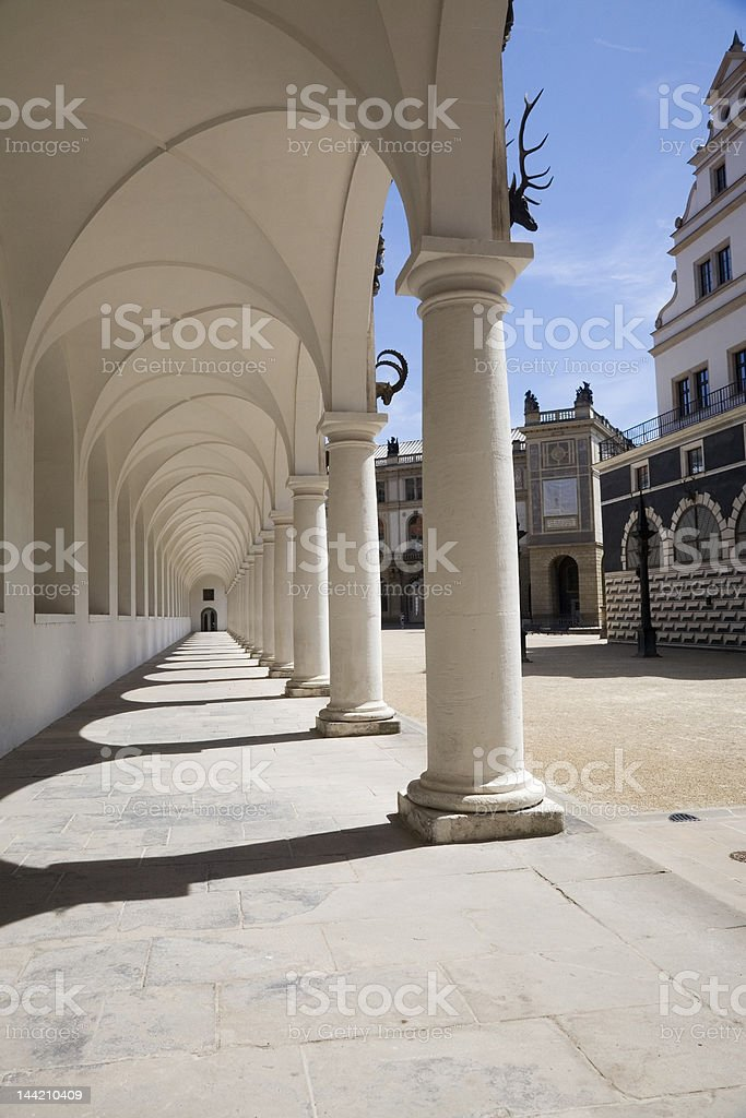 Colonnades of stable court - Dresden stock photo