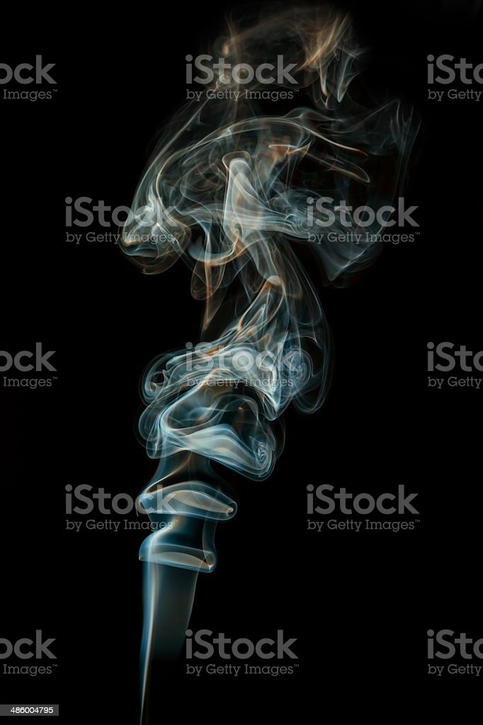 color abstract smoke isolated black background royalty-free stock photo