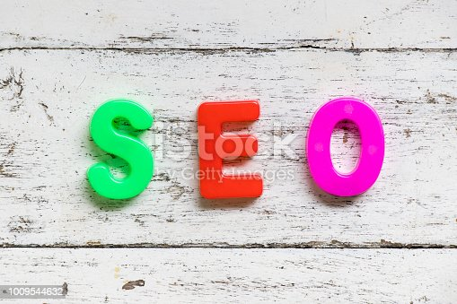 1045434476istockphoto Color alphabet in word SEO (Abbreviation of search engine optimization) on grunge old white wood background 1009544632