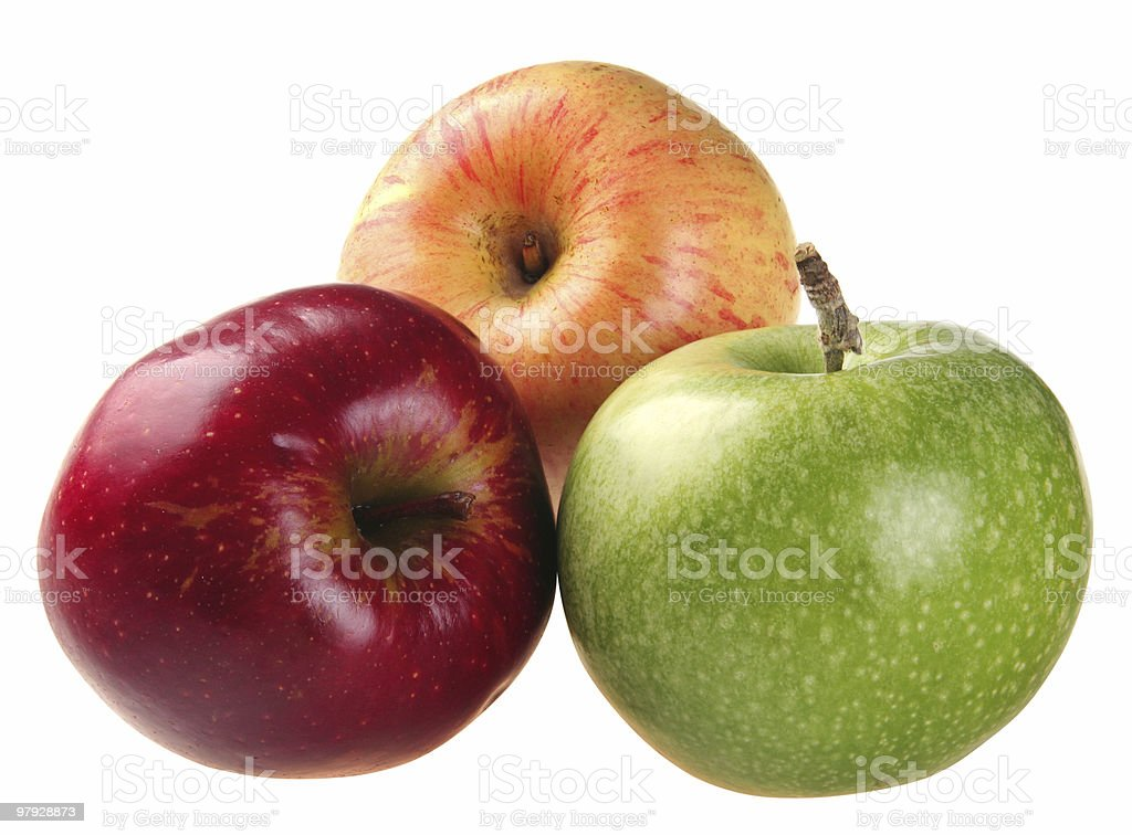 Color apple set royalty-free stock photo