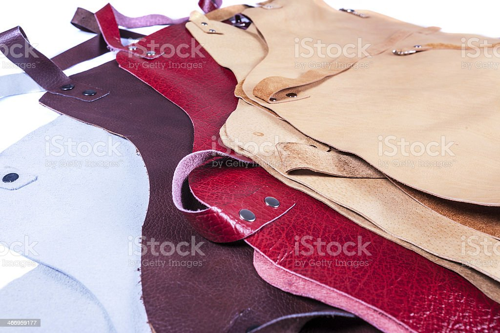 Color apron for welding royalty-free stock photo