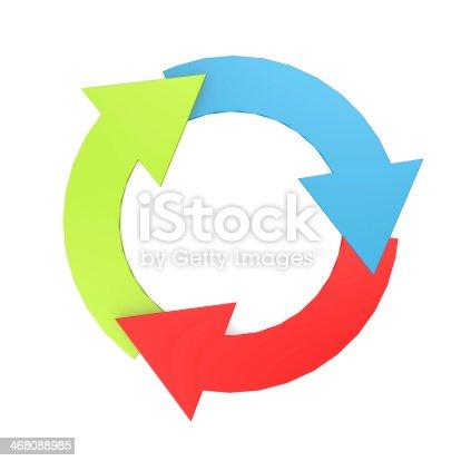 istock Color arrow circle 468088985