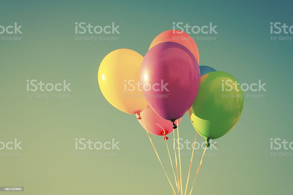 Color balloons background stock photo