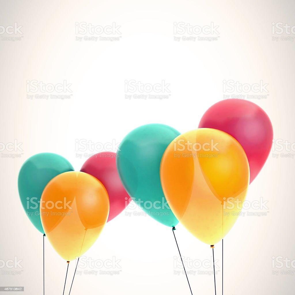 Farbe Luftballonskarte Vorlagen Stockfoto Und Mehr Bilder Von 2015