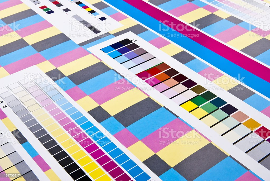 CMYK Color Bar And Chart For Printing Purposes stock photo