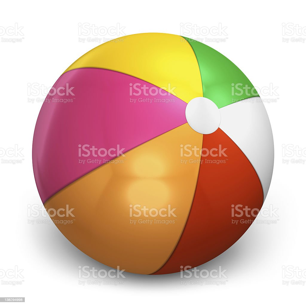 Color beach ball stock photo