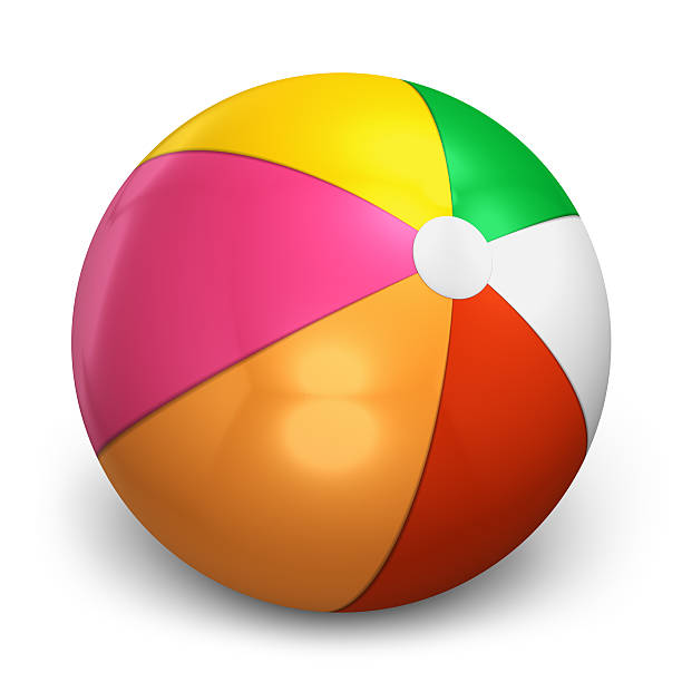 color beach ball - clip art stock photos and pictures