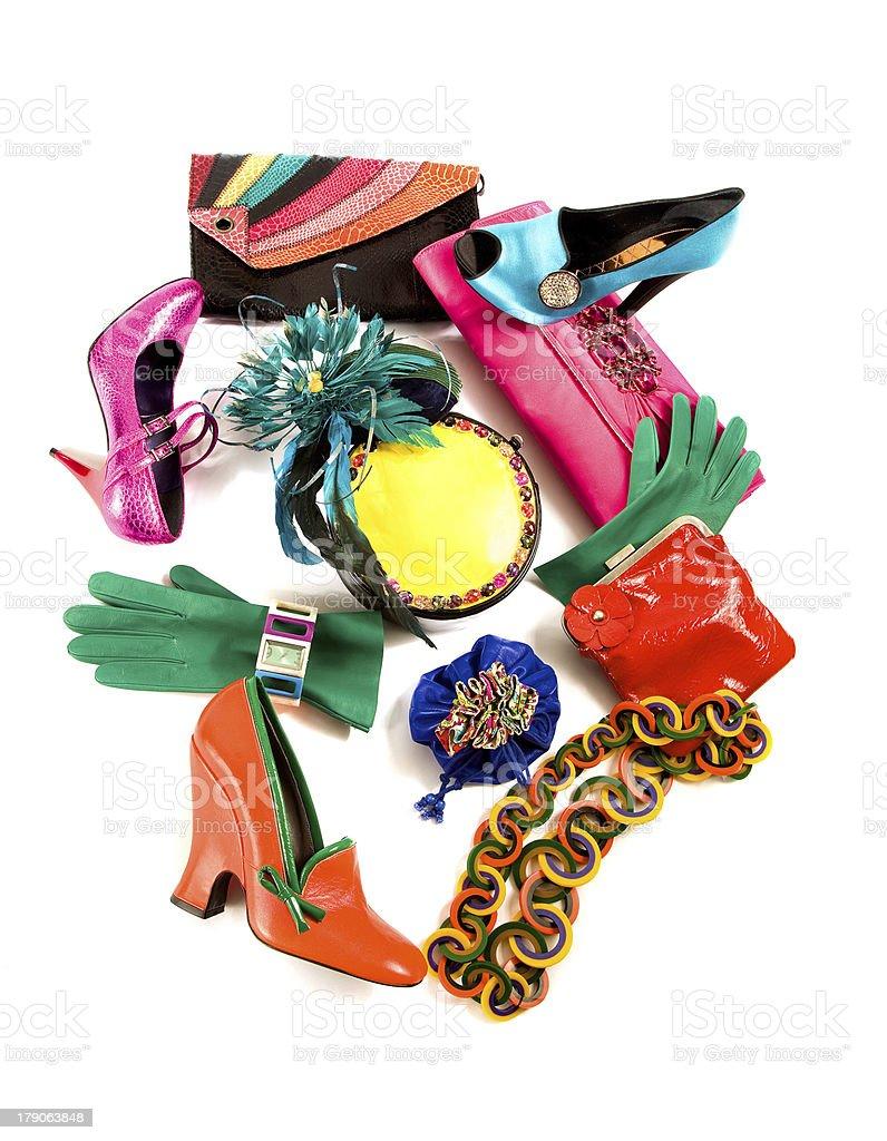Color block still life fashion composition stock photo