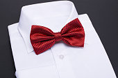 istock Color bow tie isolated on black background 628711328