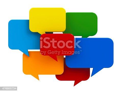 istock Color bubble talk 476955234