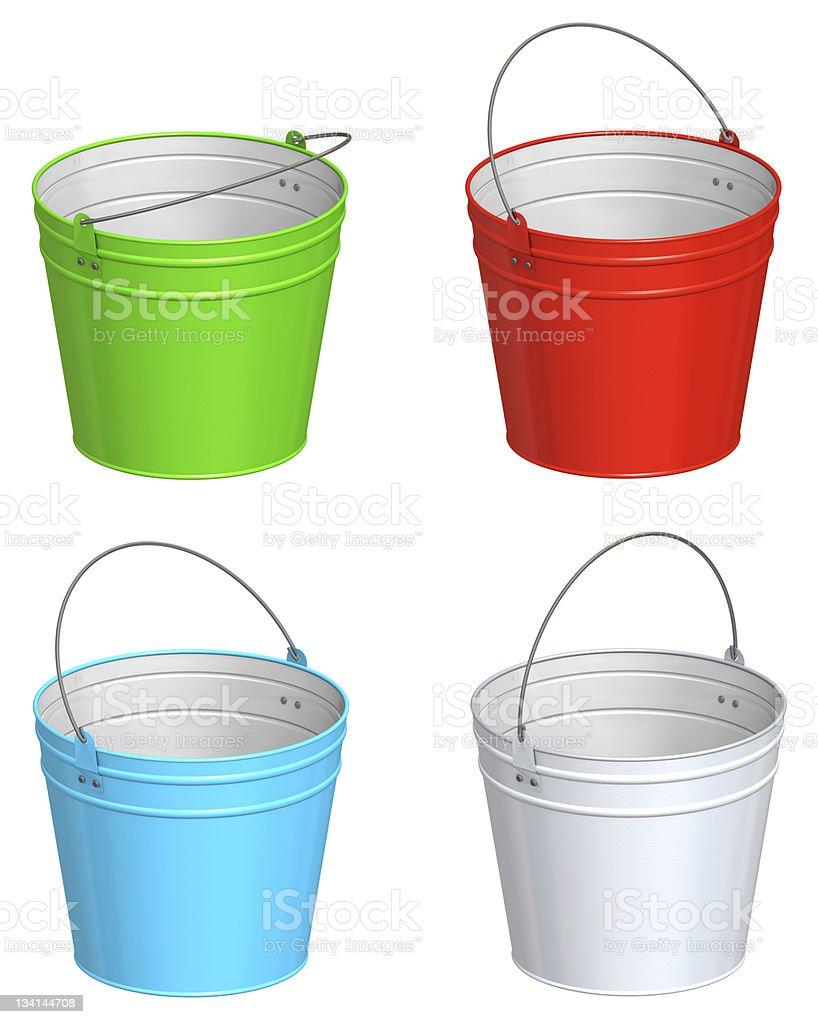 Color bucket royalty-free stock photo