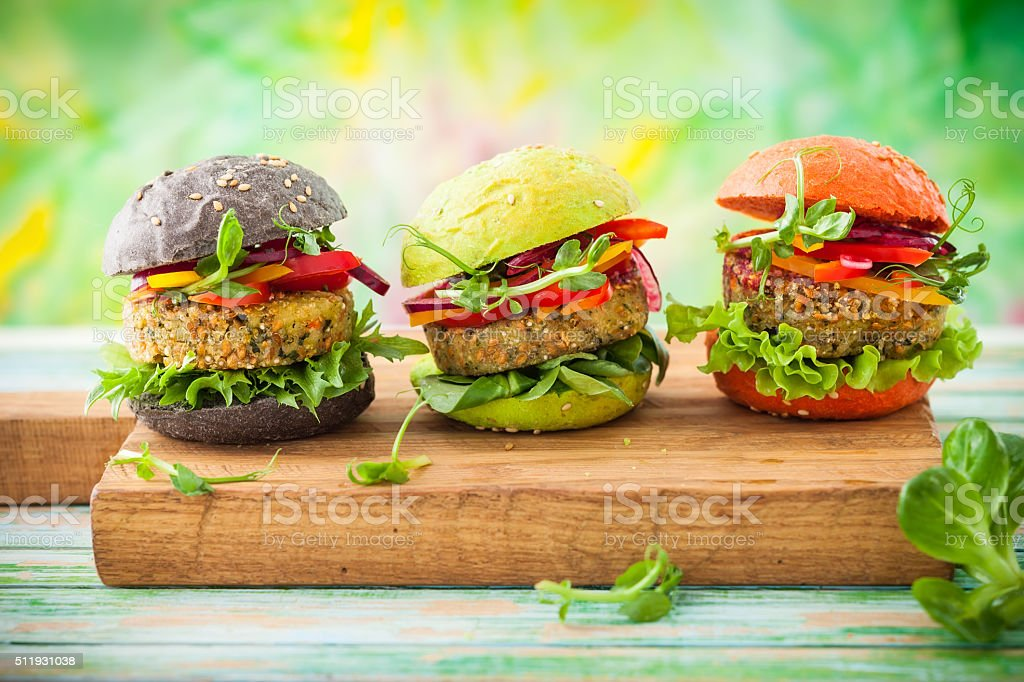 color burger stock photo