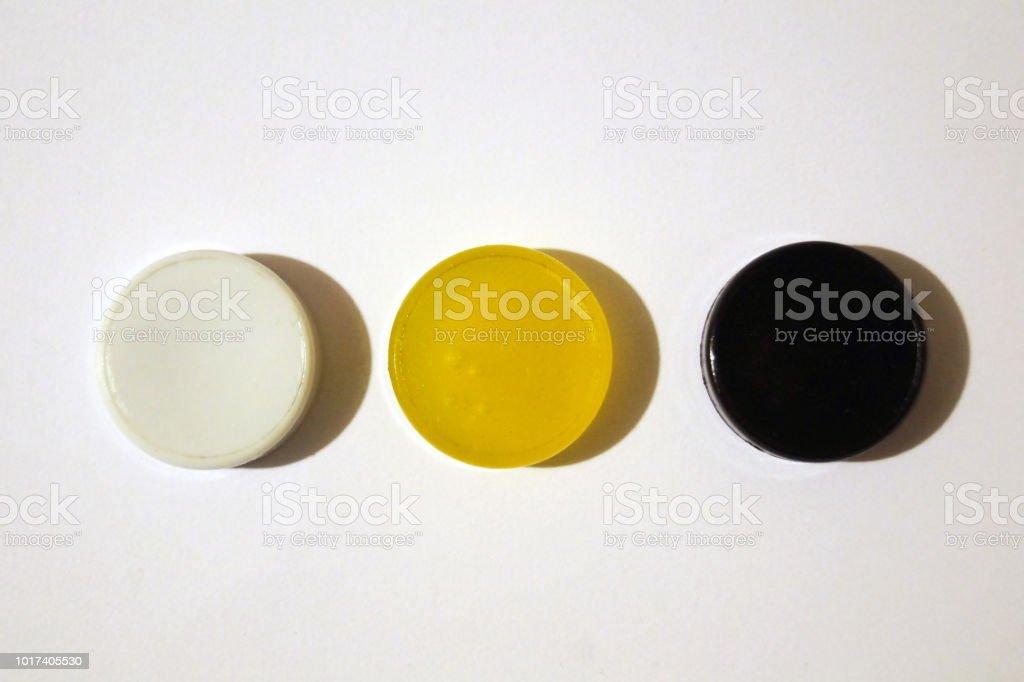 Color Button stock photo
