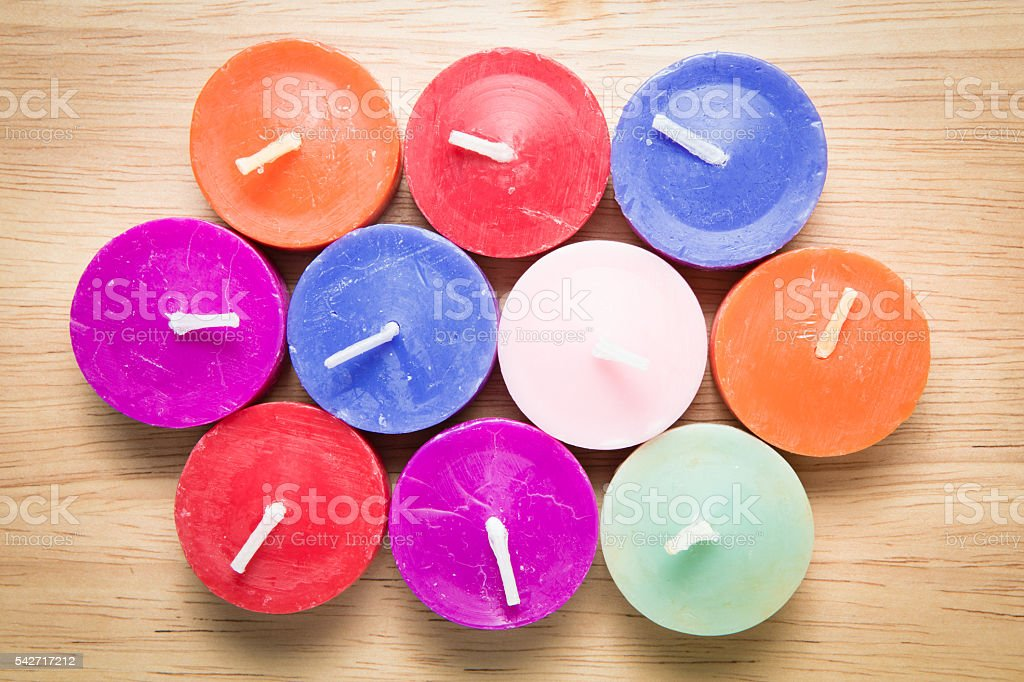 color candle stock photo