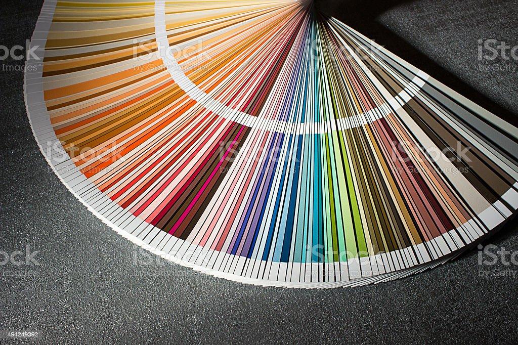Color Card Color Guide Closeup Color Chart Color Swatch Stock Photo