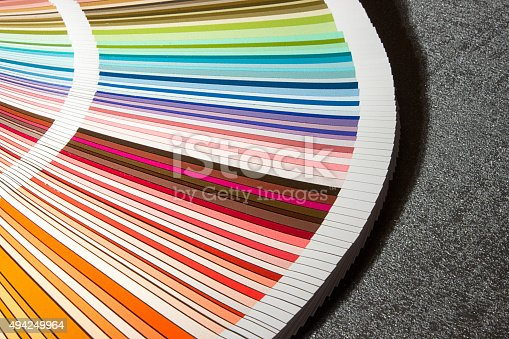 istock Color card, Color guide closeup, Color Chart, Color Swatch 494249964