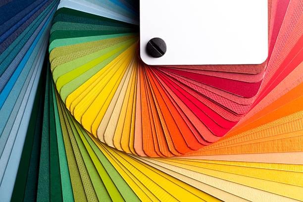 color card - kleurenwaaier stockfoto's en -beelden