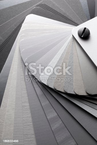 istock Color card. Shades of gray. 186833466