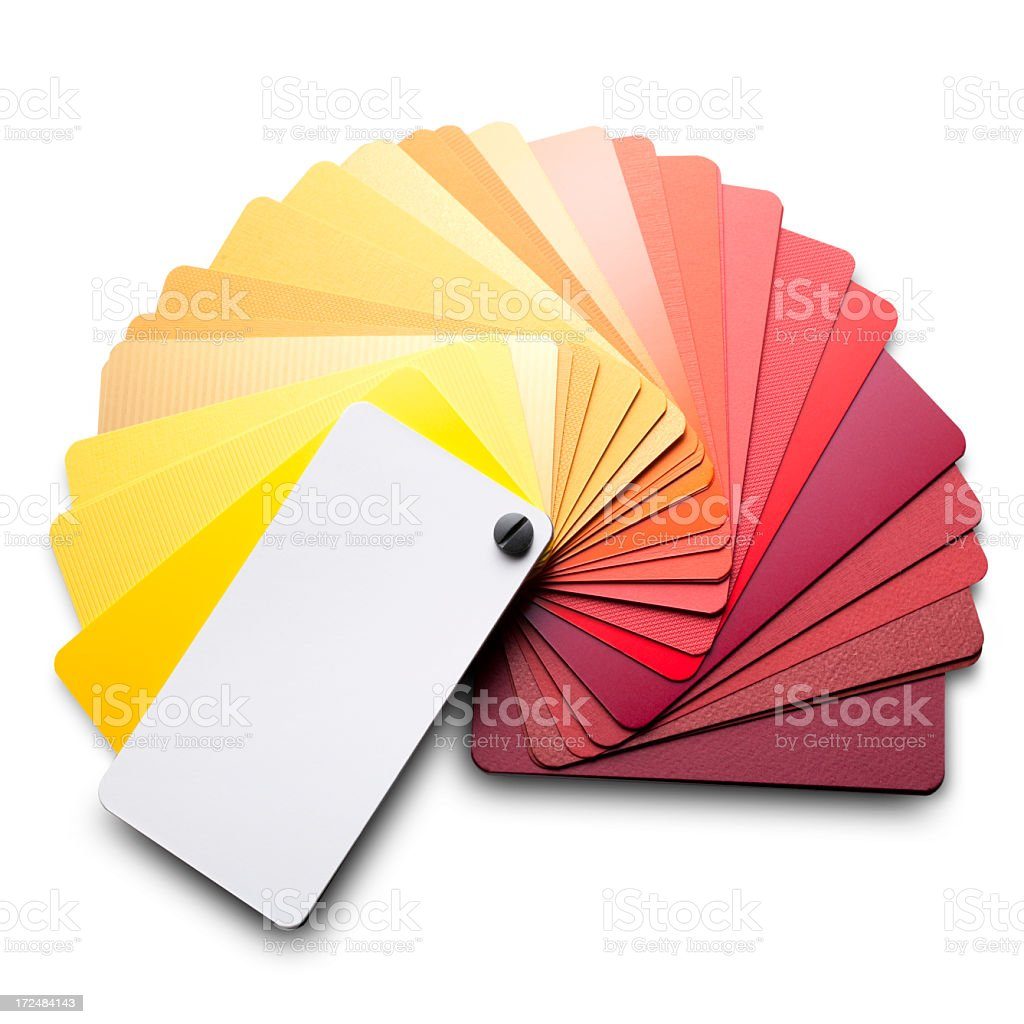 Color card. Warm colors. royalty-free stock photo