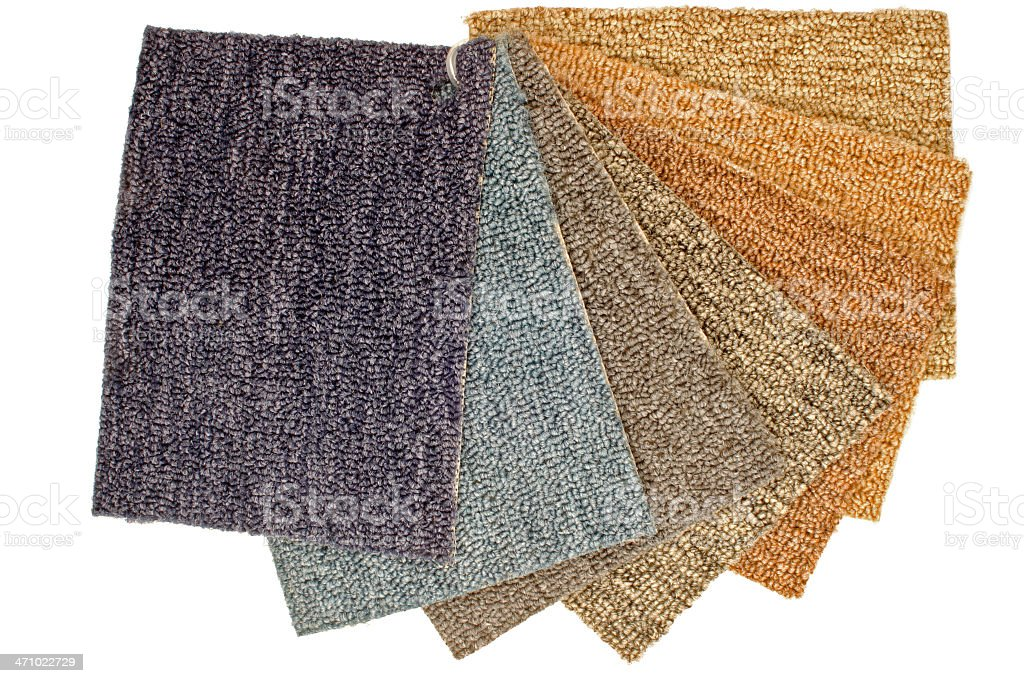 Color Carpet Samples stock photo
