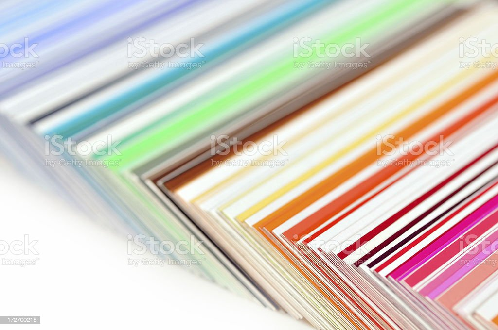 Color catalog royalty-free stock photo