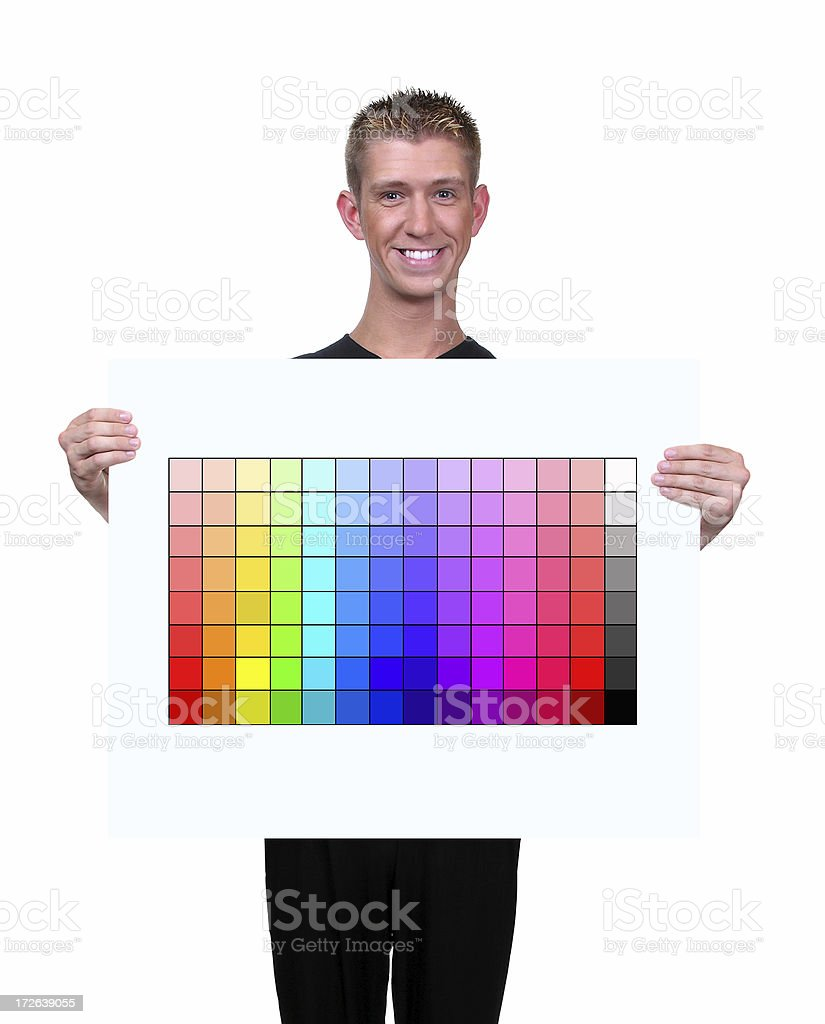 Color Chart Geek royalty-free stock photo