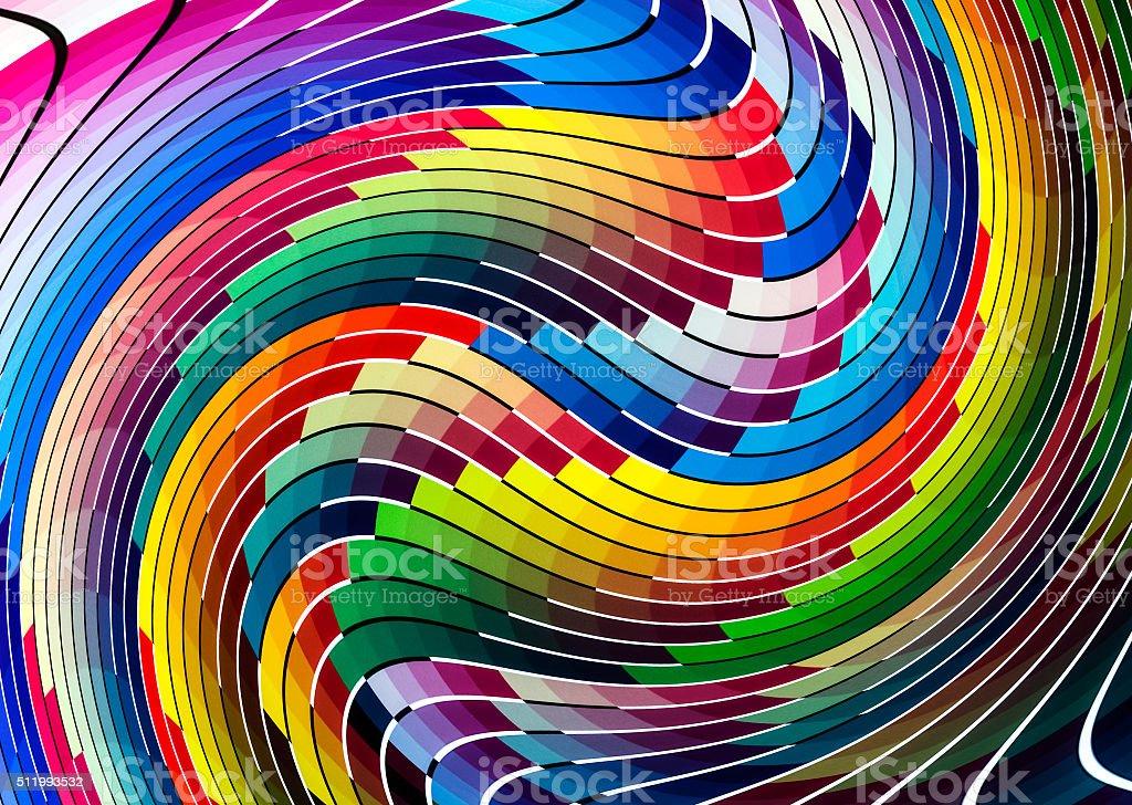 Color chart liquify stock photo