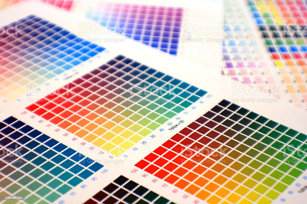 color chart royalty-free stock photo