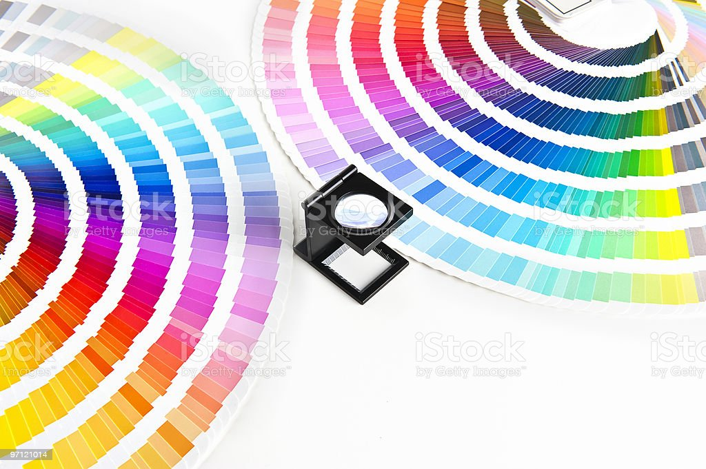 color charts stock photo