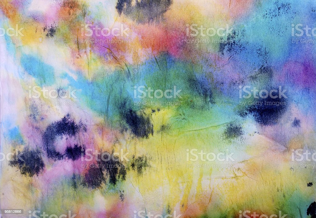 color Chinese painting background royalty-free stock photo