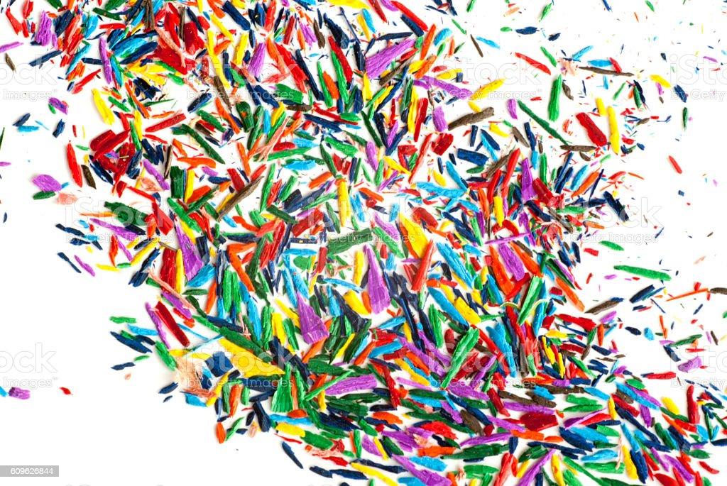 Color chip of colored pencils / Crayon