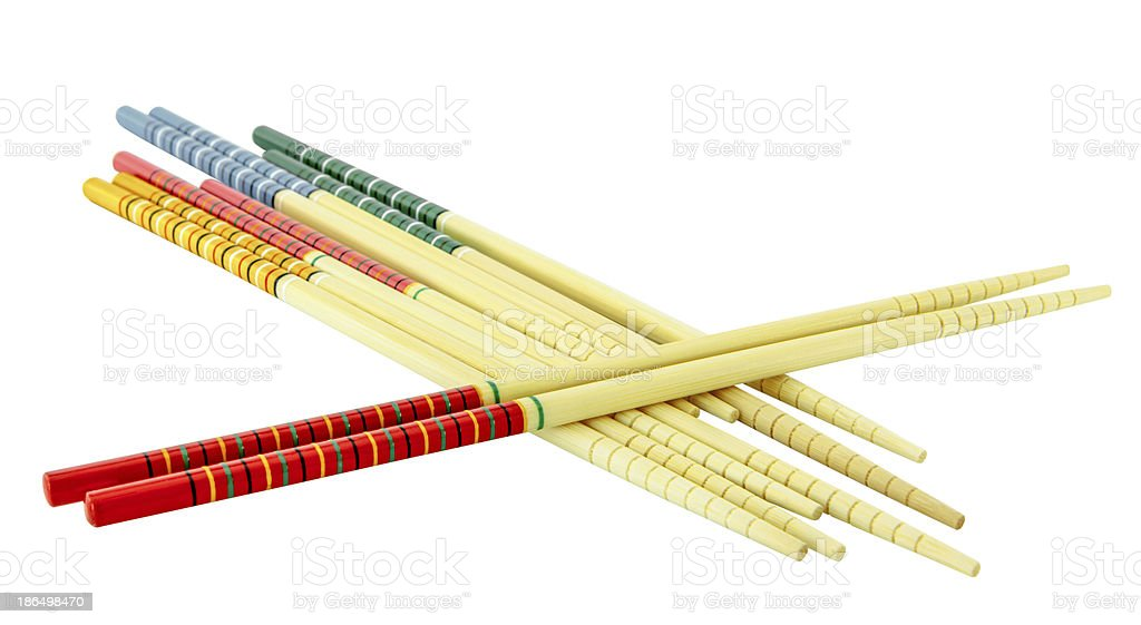 Color chopsticks isolate royalty-free stock photo