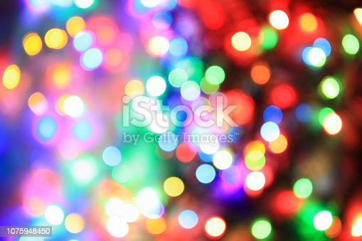 color christmas lights as very nice holiday background