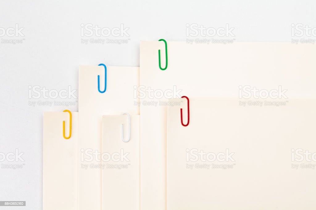 Color clip on paper stock photo