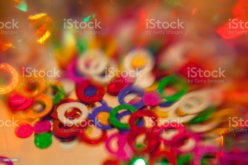 Confetes de cores foto royalty-free